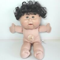 2008 Cabbage Patch Kids doll Brown Brunette hair Makes eating eat sounds Flawed
