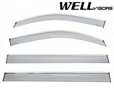Open Box WellVisors For 15-Up Yukon XL Escalade ESV Suburban CHROME TRIM Visors