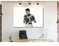Muhammad Ali - Young Black and White Canvas Wall Art Print - Various Sizes