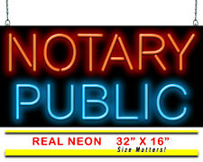 "Notary Public Neon Sign | Jantec | 32"" x 16"" 