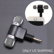 Mini 3.5mm Jack Microphone Stereo Mic For Recording From Mobile Phone