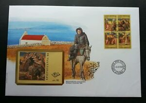 Greece Christmas 1984 Horse Painting Religion  (booklet FDC) *rare