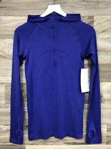 NWT Lululemon Swiftly Tech Hooded 1/2 Zip Size 6 Moroccan Blue MRCB/MRCB - 90249