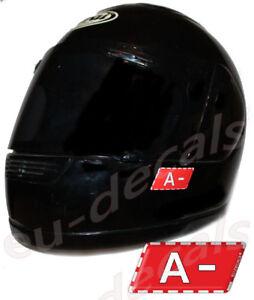 Helmet A- Blood Type Warning Unscratchable 3D Decal Car Bike GoKart sticker safe