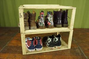 60er Vintage Regal Rack Shoe Shelf Workshop Loft Industrial Shelf System