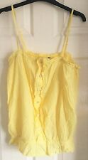 Yellow New Look Ruffle Cami Top Size 14 New