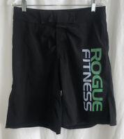 Men's Rogue Fitness Board Shorts Black Green MMA Crossfit Gym Training Size 30
