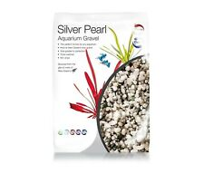 Pisces Silver Pearl Aquarium Gravel, 2mm - 4mm 100% Natural White Sand 10 LB Bag