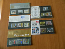 1971 YEAR SET OF 5 PRESENTATION PACKS IN MINT CONDITION