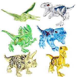 6Pcs Mini Dinos Jurassic Park Dinosaurs Crystal Tyrannosaurus Fit Lego