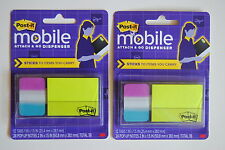 Set of 2 Post-it Mobile Attach & Go Dispenser Sticky Notes & Flags, PM-COMBO1