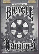 1 DECK Bicycle Actuators playing cards -- WHITE
