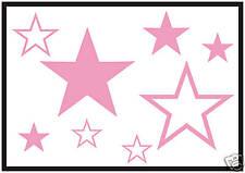 24 Flor Estrella calcomanías adhesivos para coches gráficos Rosa Body Panel Ventana Parabrisas