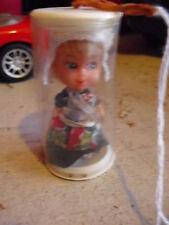 "Vintage 1970s Aces Miniature Vinyl Miss Holland Girl Doll 2 3/4"" Tall"