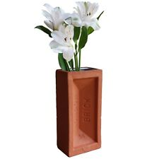 Stolen Form Brick Vase Terracotta