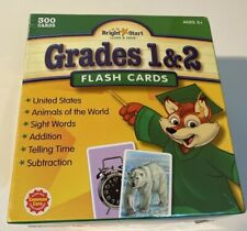 Bright Start Flash Cards Grades 1 & 2 Brand New Factory Sealed 300 Cards Age 5+