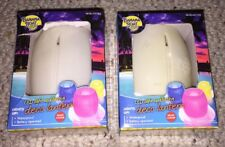 Two Floating LED Lanterns Light Banana Boat Silicon Water Pool Pond New