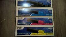 Pack 4 toner color Epson C1100 CX11  S050187-S050188-S050189-S050190