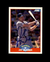Jay Buhner Hand Signed 1989 Score Seattle Mariners Autograph