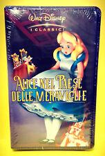 ALICE NEL PAESE DELLE MERAVIGLIE cartone Walt Disney VHS video idea regalo 2018