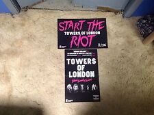 2 Cd lp Towers Of London Promo Poster 17x11aprx music vintage of