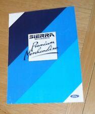 Ford Sierra RS Cosworth Premium Merchandise Brochure 1986