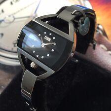 Ladies Storm Designer Watch TEMPTRESS CHARM TC.S10 Steel Black Dial Genuine