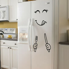 Cute Sticker Fridge Happy Delicious Face Kitchen Fridge Wall Stickers Home Decor