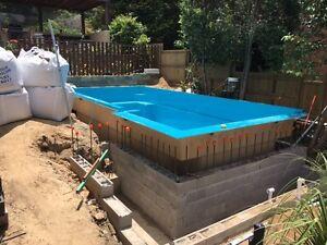 Fibreglass Pools / Swimming Pools / Kit Pools / 7 x 3.5 Modern infinity edge