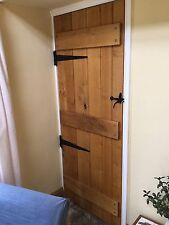 Solid Oak Interior Ledge Door Beaded Tongue And Groove Boards. No VAT!