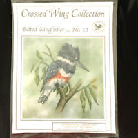 Crossed Wing Collection Cross Pattern/ Chart Stitch Belted Kingfisher #52