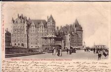 POST CARD  QUEBEC  CANADA  VIAGGIATA 1904 CHATEAU FRONTENAC