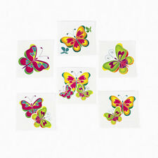 36 Assorted Beautiful Butterfly Temporary Tattoos Party Favors