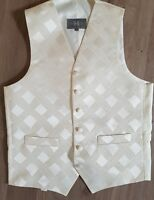 mens ivory WAISTCOAT textured WEDDING Occasion formal smart all sizes FREE POST