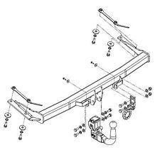Witter Towbar for Volkswagen Caddy Van 2011 Onwards - Detachable Tow Bar