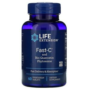 Life Extension, Fast-C and Bio-Quercetin Phytosome, 60 Vegetarian Tablets