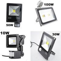 10/30/50/100W LED Flood Light PIR Motion Sensor Yard Floodlight Security Outdoor