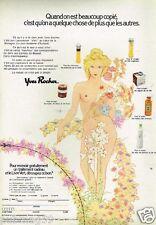 Publicité advertising 1974 Cosmétique crème Yves Rocher