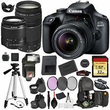 Canon EOS Rebel 4000D Digital SLR Camera +EF-S 18-55mm + EF 75-300mm (Black) Pro