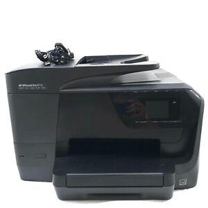 HP Officejet Pro 8710 All-In-One Inkjet Printer USB Power Cord 2.5k Pg Needs INK