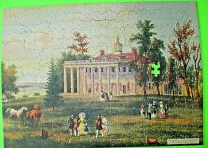 "Vintage Fairco Picture Puzzle ""Residence of Washington Mt. Vernon,1940s"