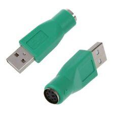 2 x PS/2 Femelle Vers USB Male Adaptateur Convertisseur Pour Clavier Souris I3H3