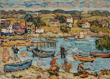 Marblehead Harbor by Maurice Brazil Prendergast 60cm x 43cm Art Paper Print