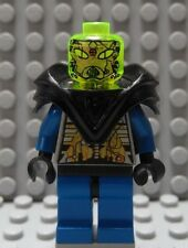 LEGO Classic Space Blue Minifig with Armor and Trans Green Head
