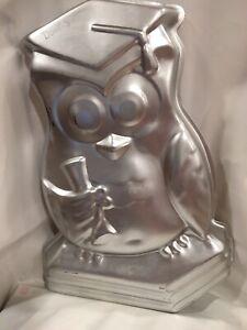 Amscan Inc. GRADUATION OWL CAKE PAN, Preowned - Aluminum