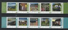 ISLE OF MAN 2018 YEAR OF OUR ISLAND UNMOUNTED MINT SET OF 10 IN 2 STRIPS