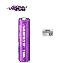 Genuine Purple Efest 3500mAh IMR 3.7V 18650 Battery Flat Top 20A Vape Mod
