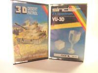 Sinclair ZX SPECTRUM 48K GAMES -- VU-3D AND DESERT PATROL 3D -- CASSETTES GAMES