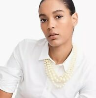 J.Crew PEARL TWISTED HAMMOCK NECKLACE! Nwt New$98 With Bag!