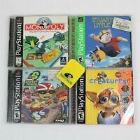 Sony PlayStation Lot of 4 Video Games w/ PS2 Memory Card Monopoly Greatest Hits